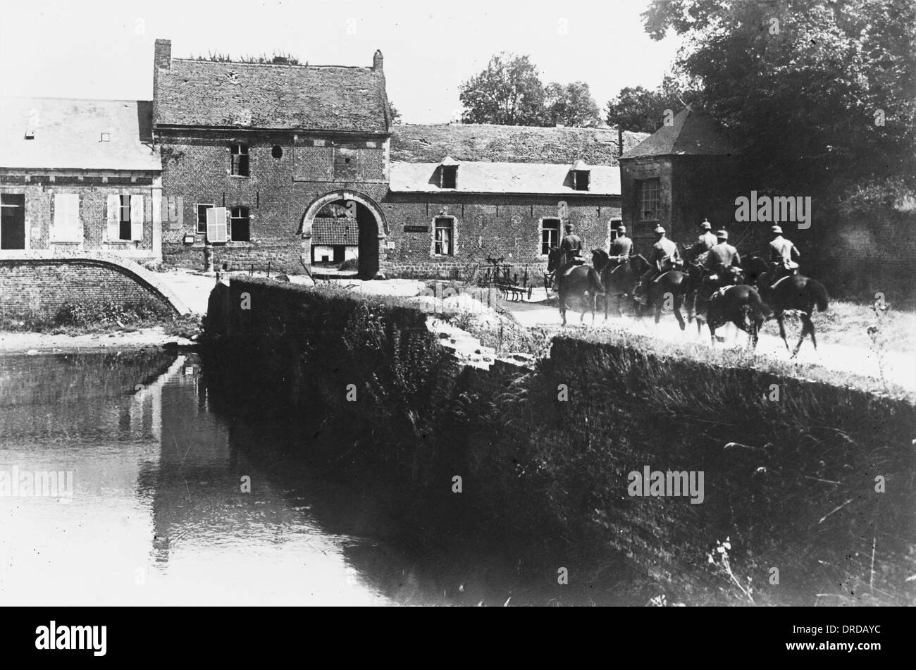 German cavalry in France WWI - Stock Image