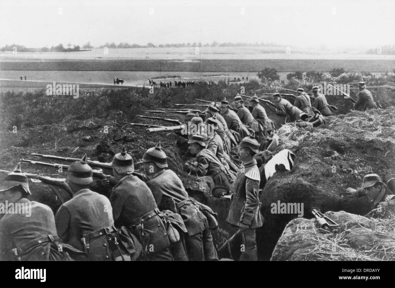 German trenches WWI - Stock Image