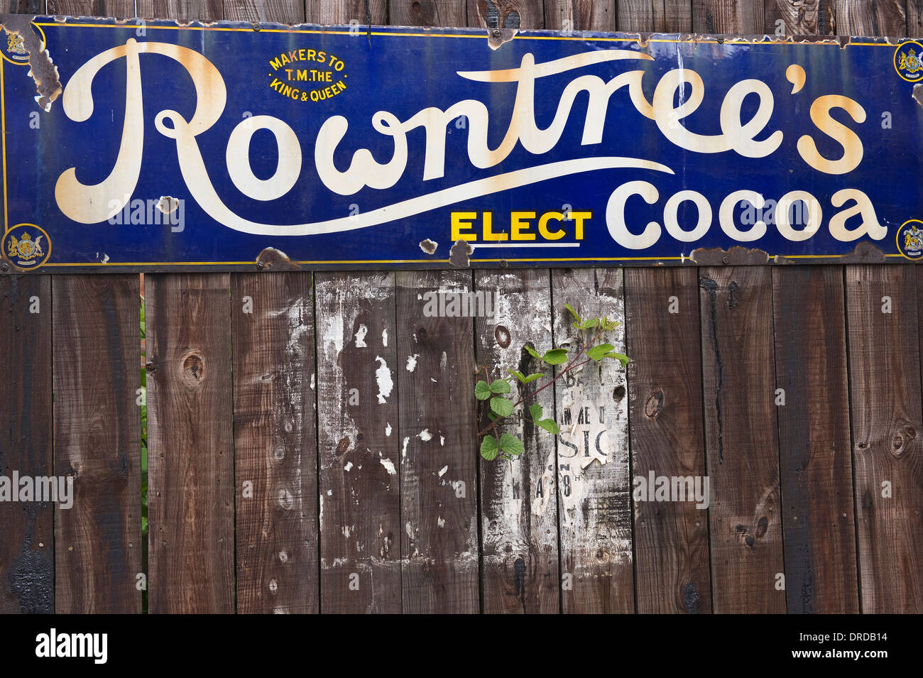 Advertisement for Rowntree's Elect Cocoa Beamish Open-Air Museum, County Durham, England, UK, Europe - Stock Image
