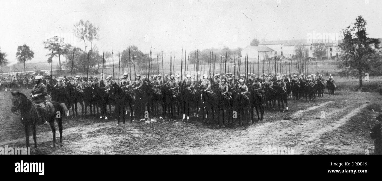 German cavalry WWI - Stock Image