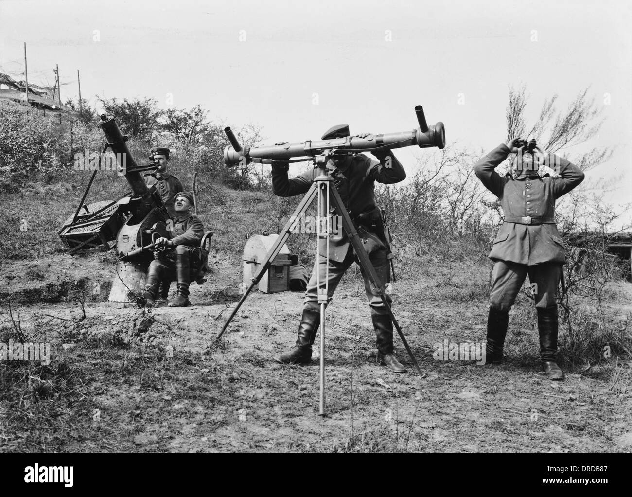 German flag gun WWI - Stock Image