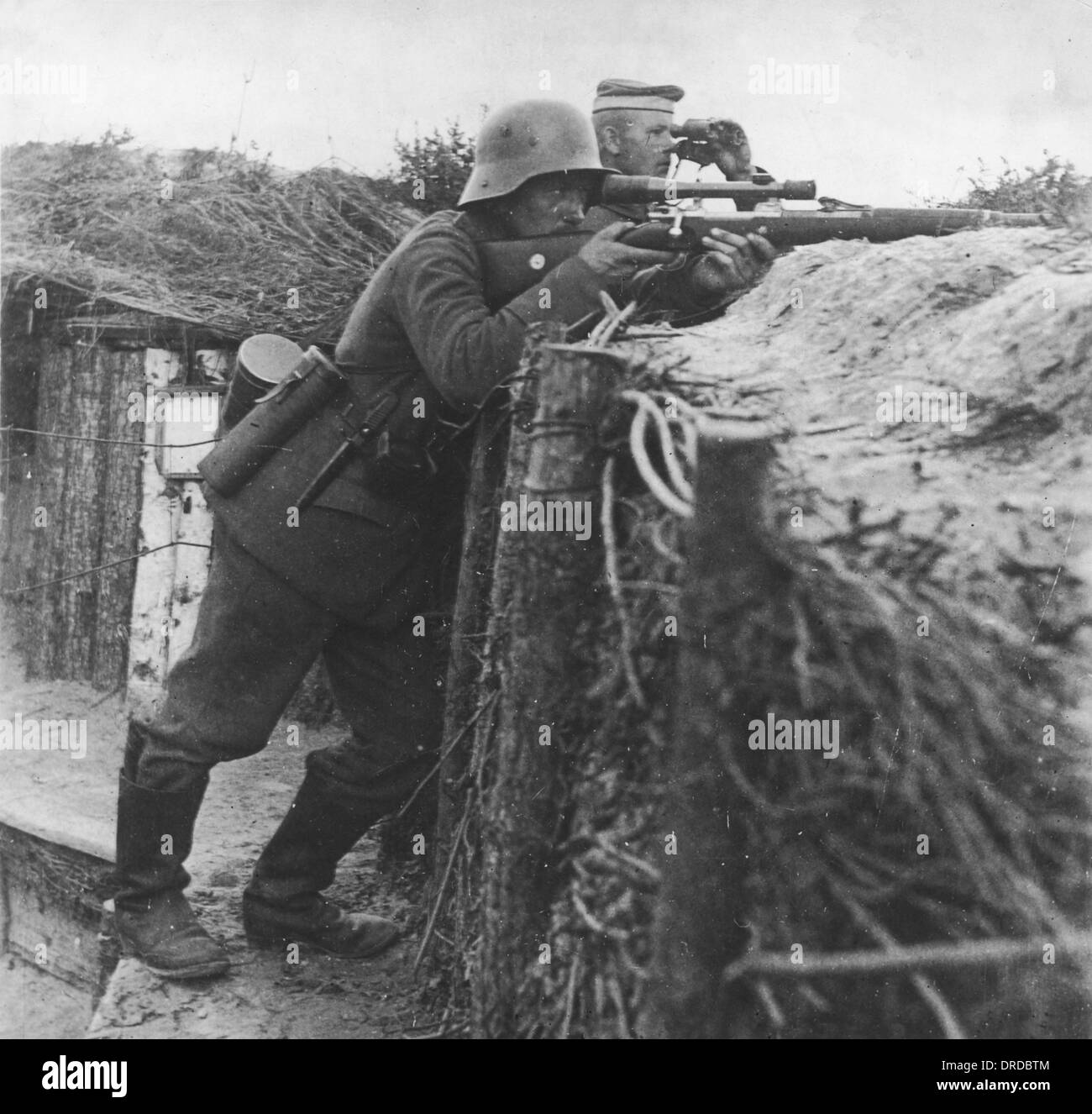 German sniper WWI - Stock Image