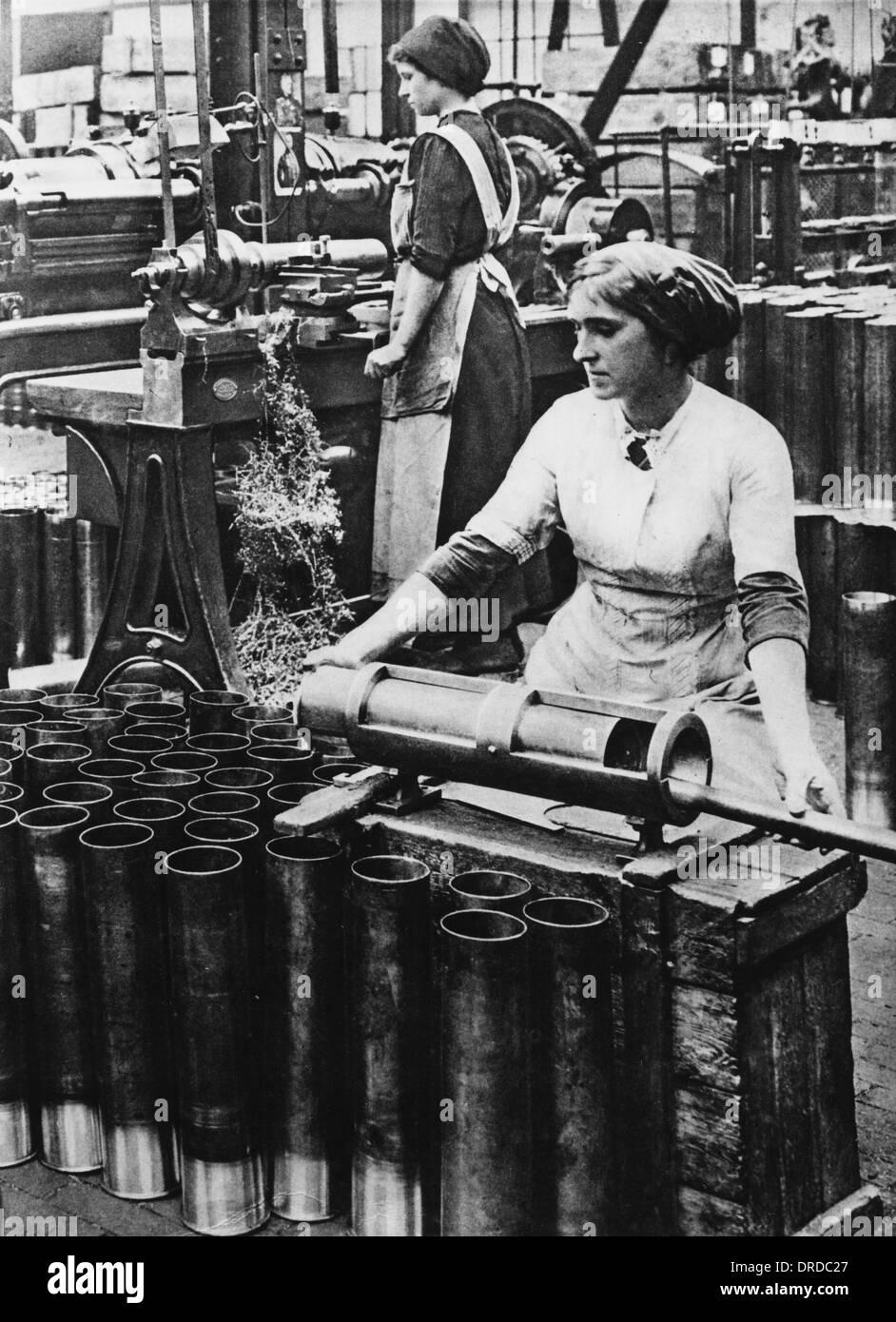 German wartime employment WWI - Stock Image