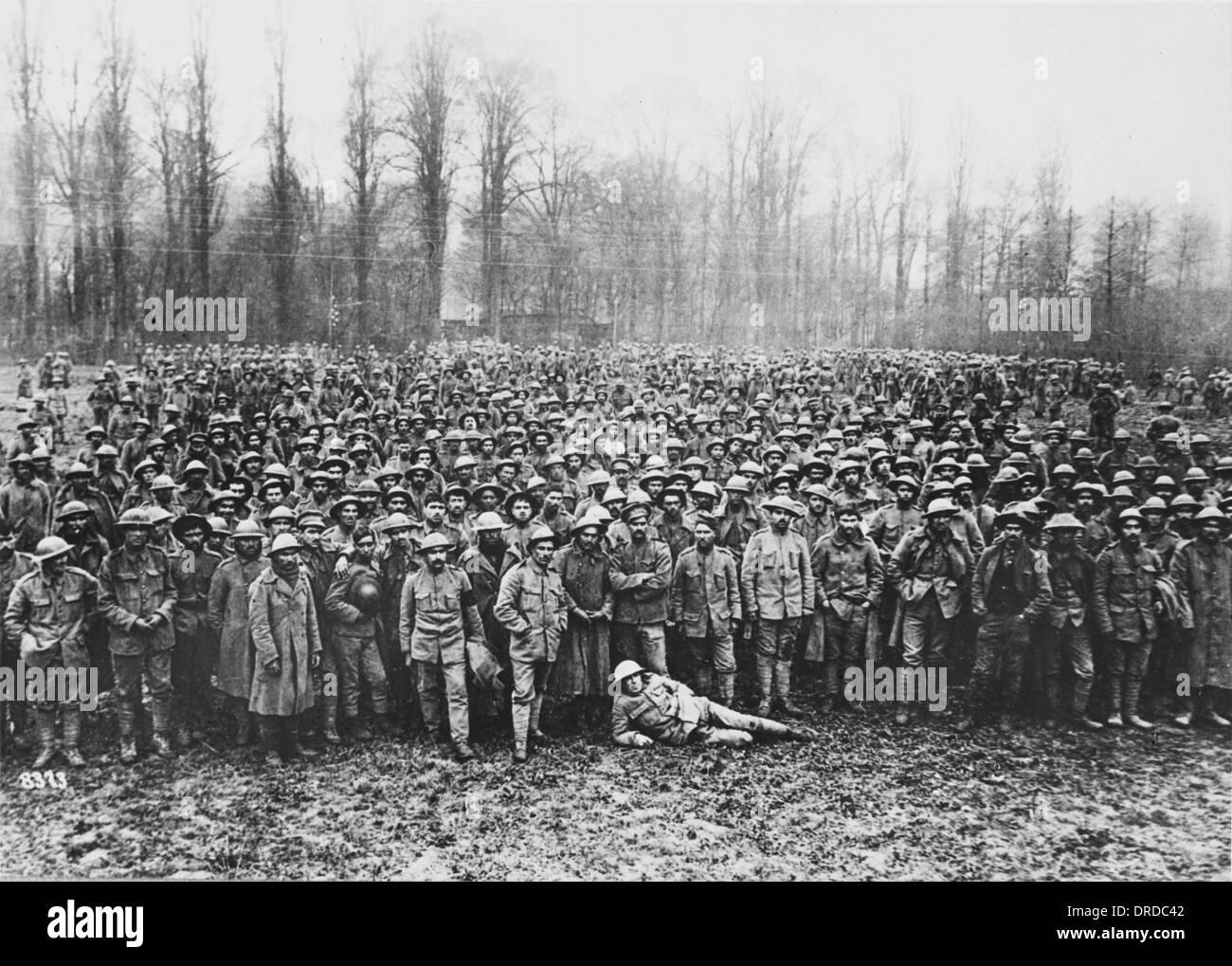 WWI prisoners - Stock Image