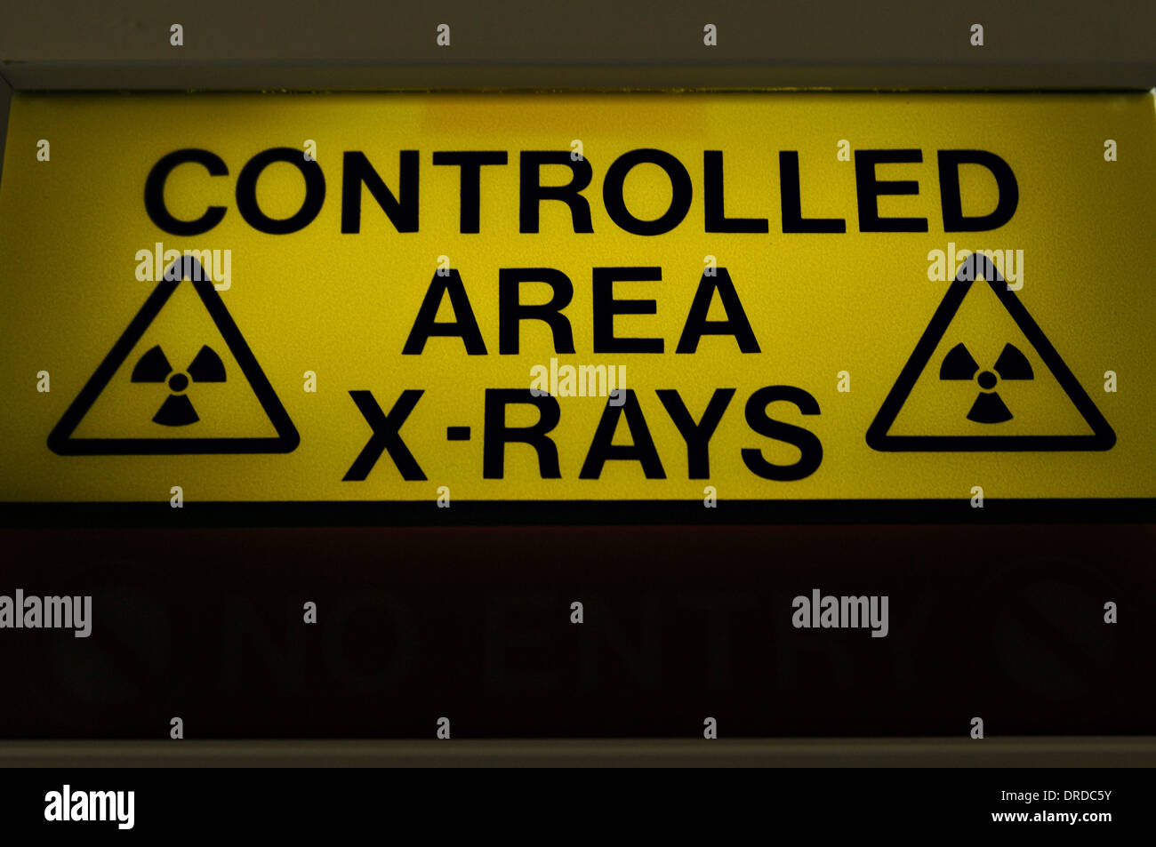 An X-Rau sign in a hospital - Stock Image