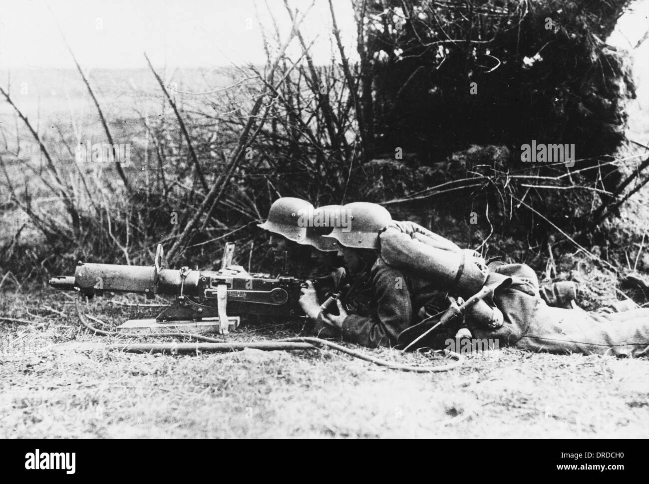 German machine gun WWI Stock Photo: 66063452 - Alamy