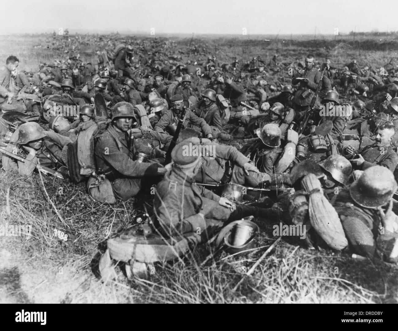 German troops WWI - Stock Image