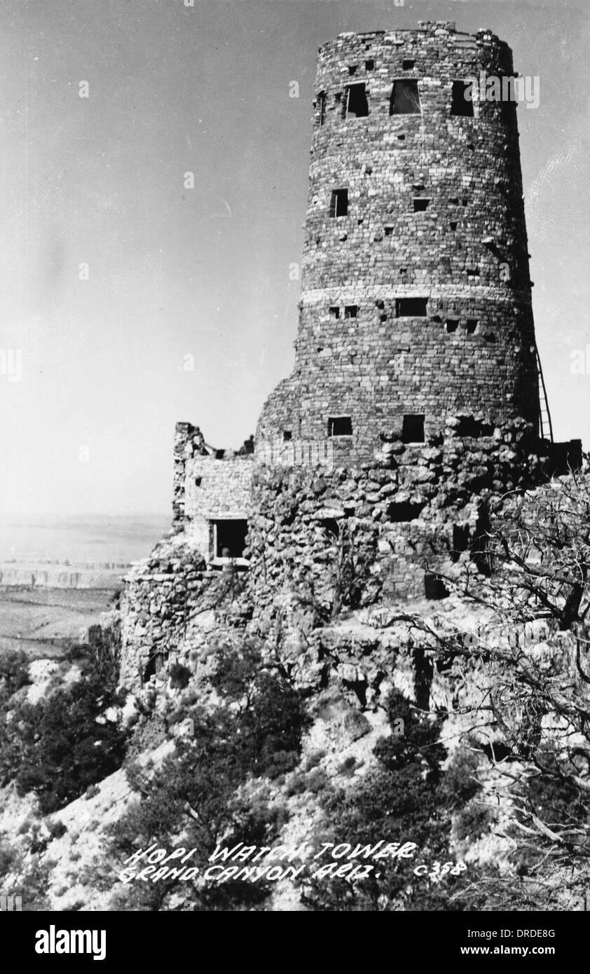 Hopi Watch Tower - Grand Canyon, Arizona, USA - Stock Image