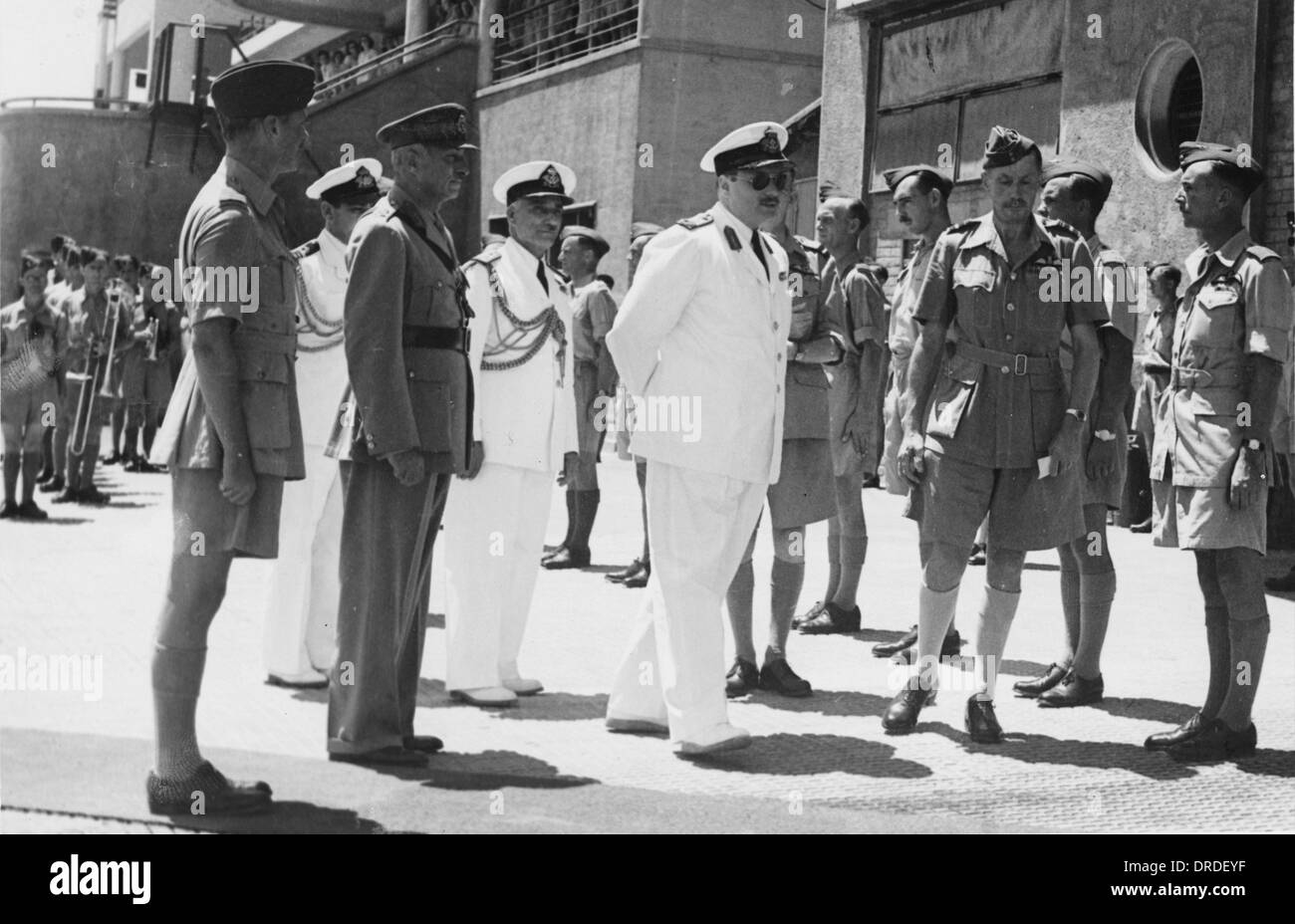 King Farouk with Air Vice Marshall Toomer - Stock Image