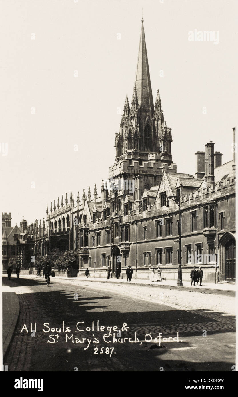 All Souls College and St Mary's Church - Stock Image