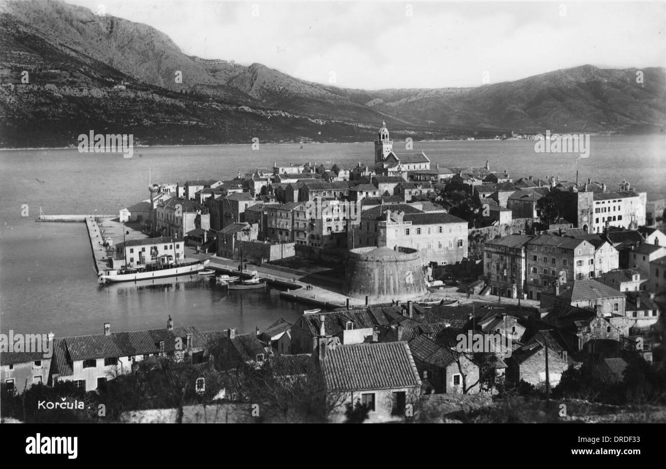 Korcula, Croatia - Stock Image