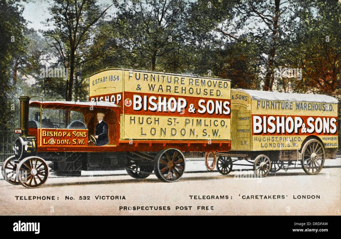 Beautiful Steam Furniture Removal Vans, Pimlico, London   Stock Image