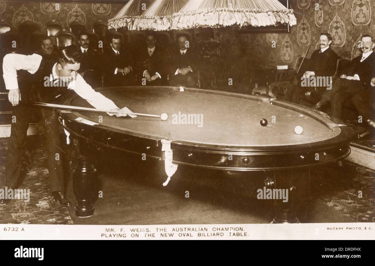 Oval Billiard Table - Stock Image