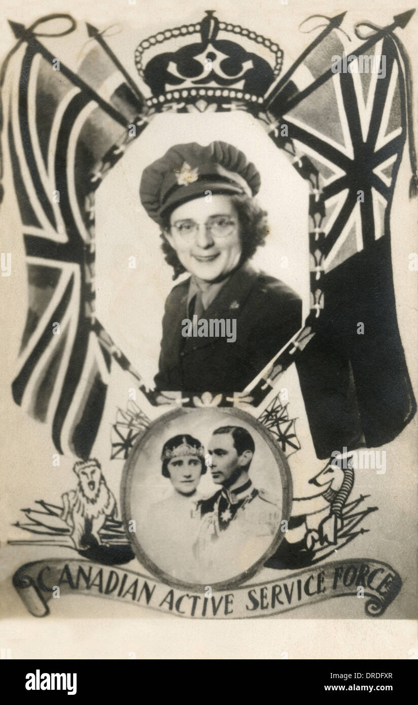 Card from the front - World War Two - Stock Image