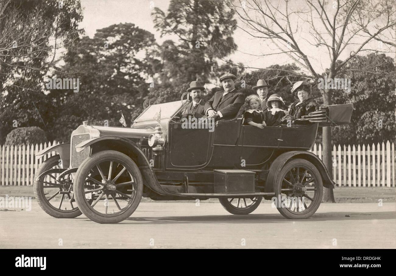 1914 Motor Car - Stock Image