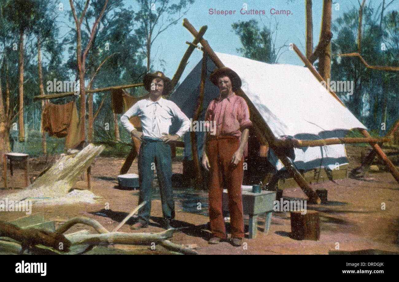 Sleeper Cutters Camp - Stock Image