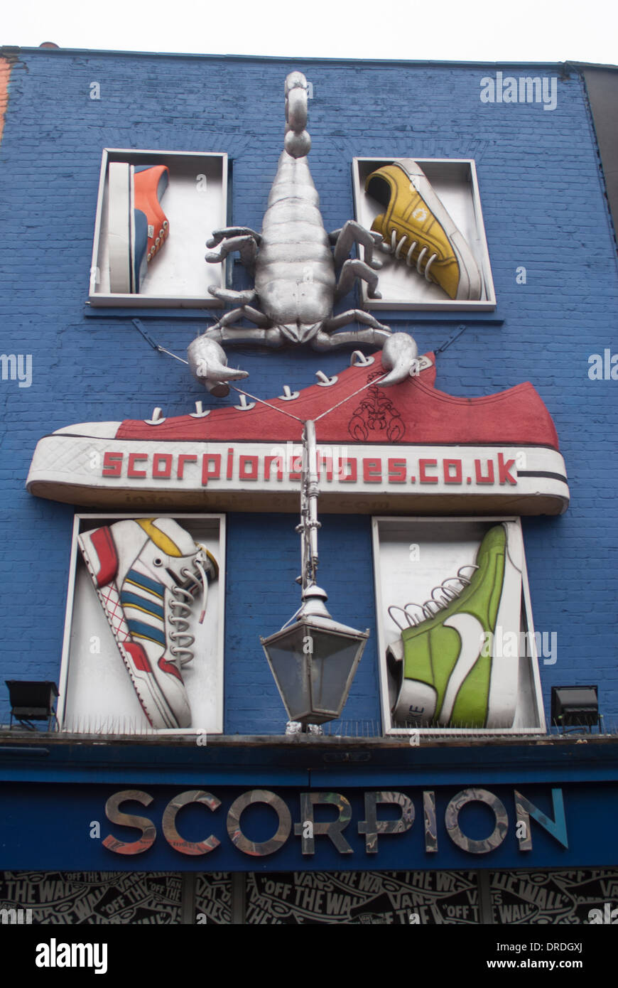 Camden shop front with shoe shop - Stock Image