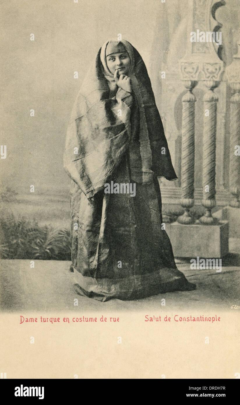 Turkish lady in Street Costume - Stock Image