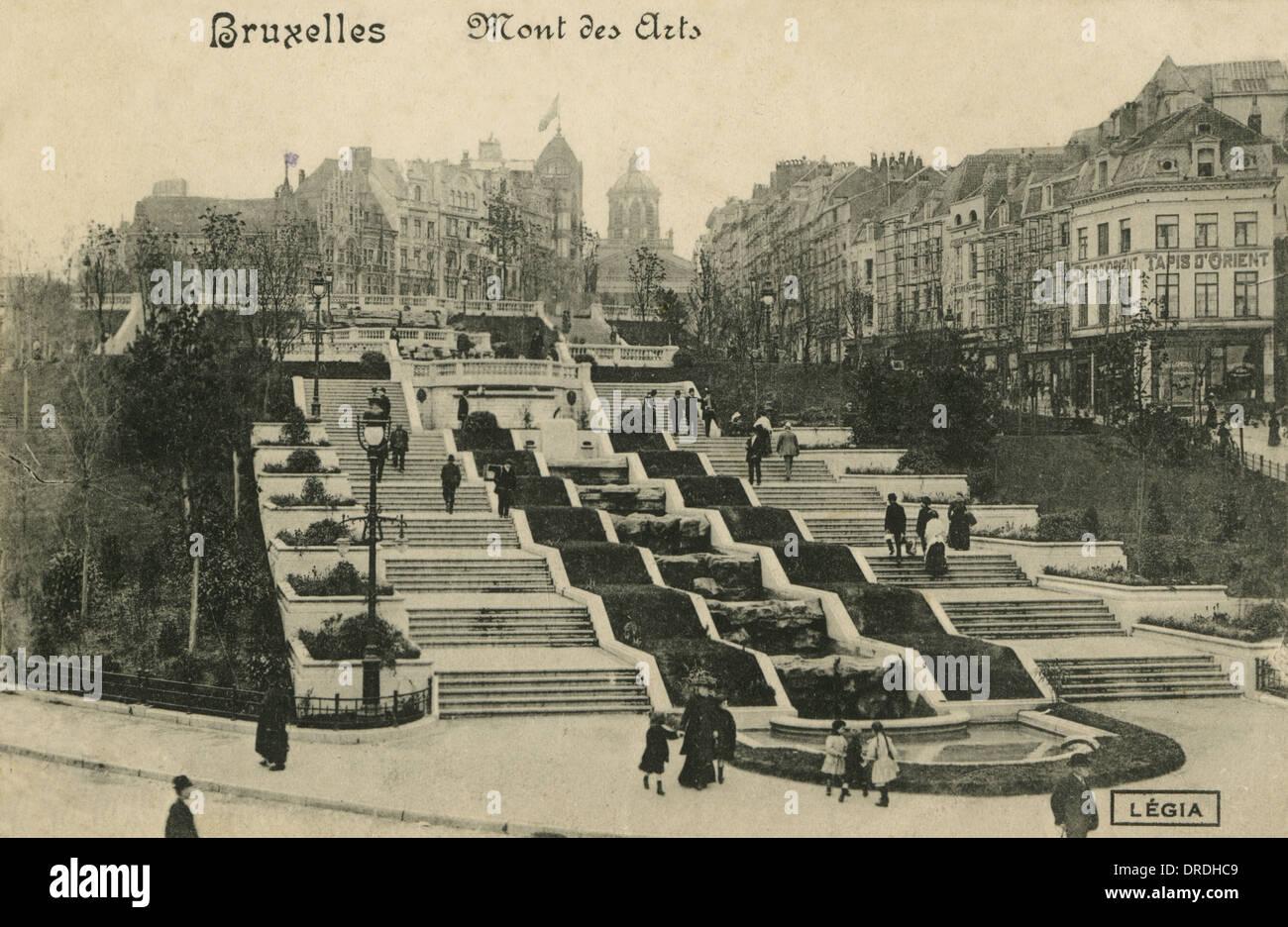 Belgium - Brussels - Mont des Arts - Stock Image