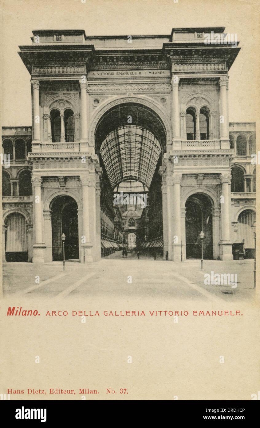 Galleria Vittorio Emanuele - Milan, Italy - Stock Image