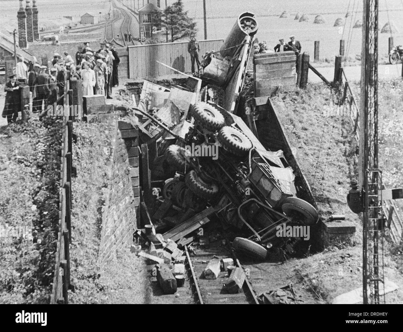 Railway Bridge Collapse (2/3) - Stock Image