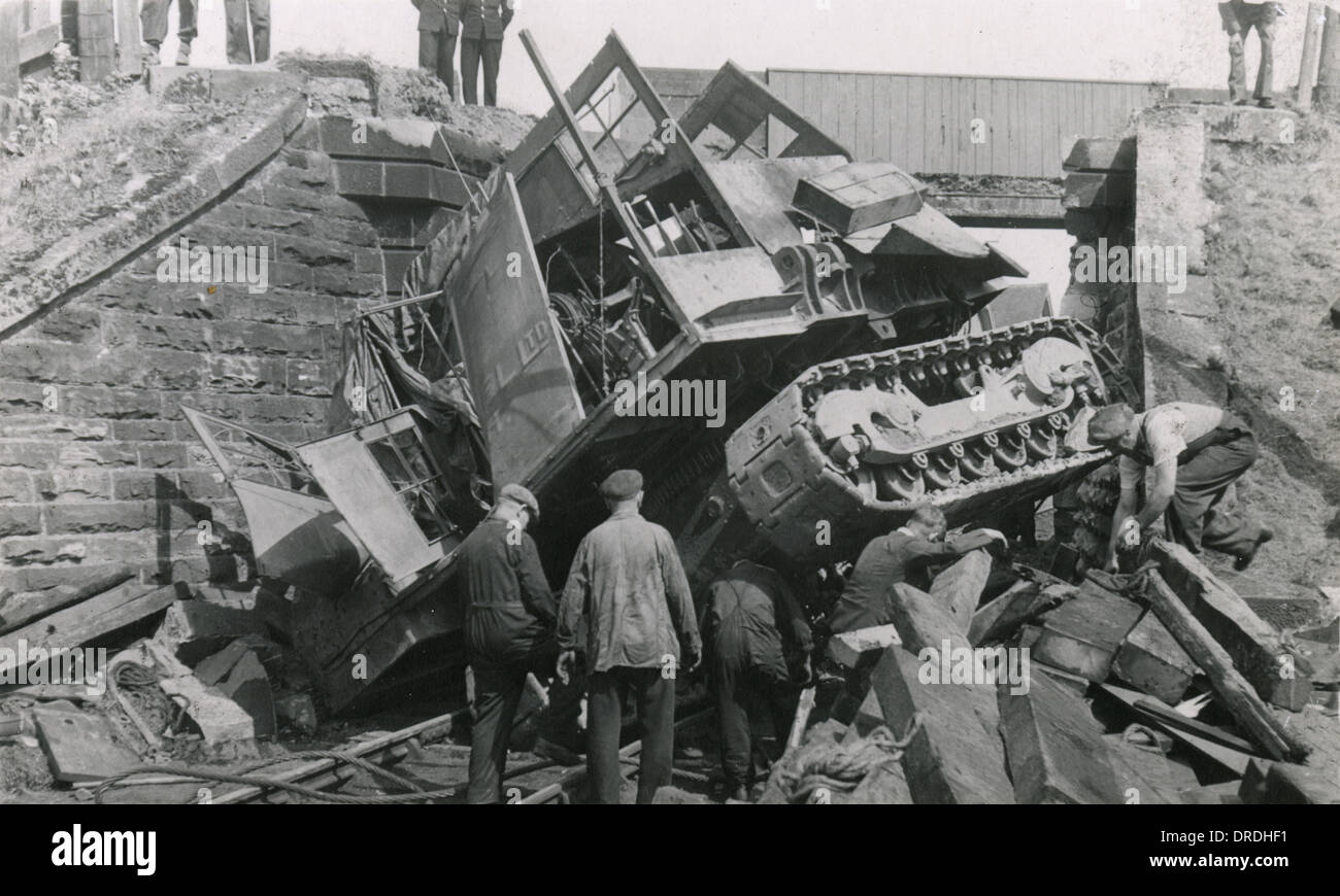Railway Bridge Collapse (3/3) - Stock Image