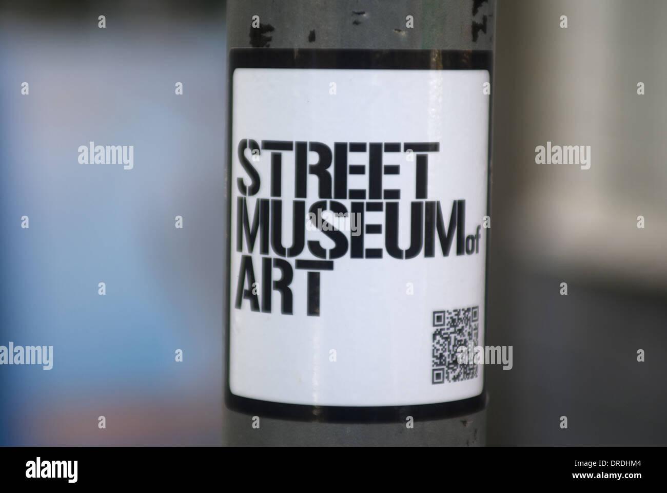 street art museum sticker - Stock Image