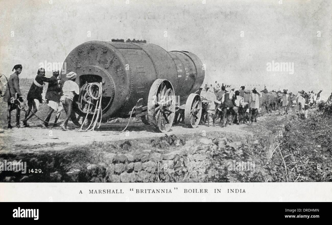 Marshall 'Britannia Boiler transported - India - Stock Image