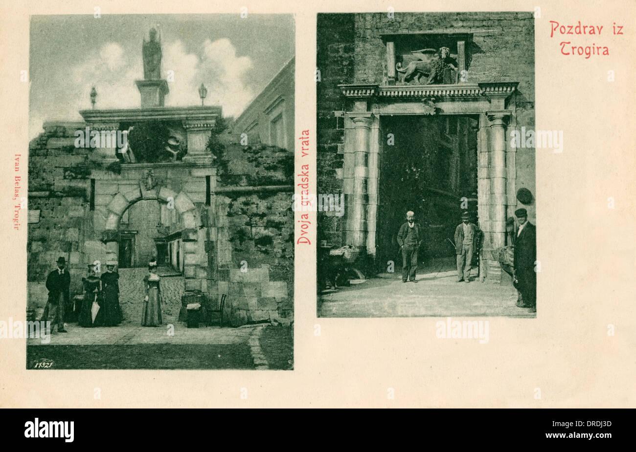 Trogir - Venetian Gateways - Stock Image
