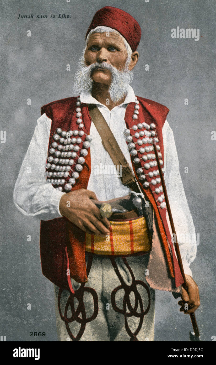 Southern Croatian Man - Stock Image