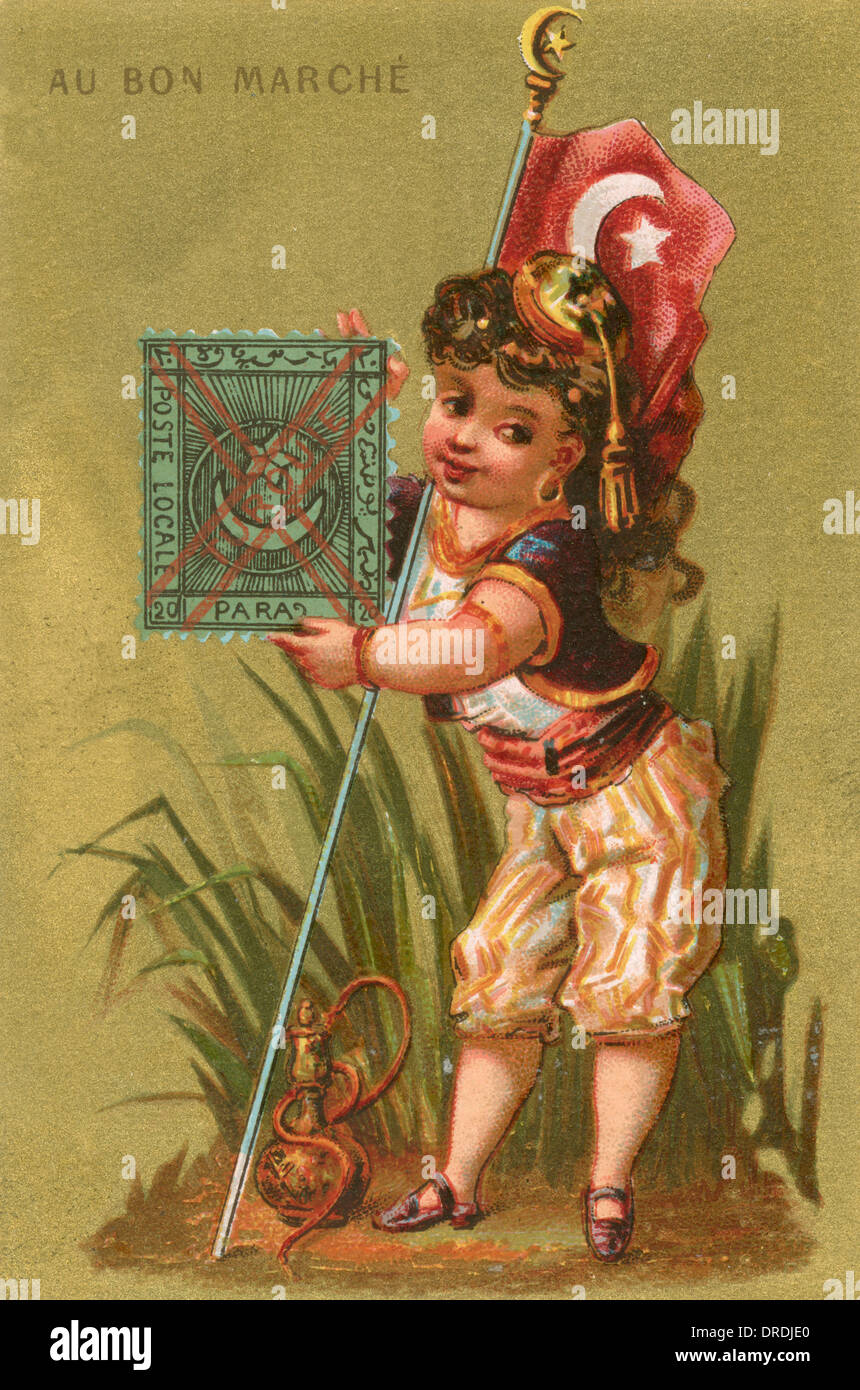 Au Bon Marche card - Turkey - Stock Image