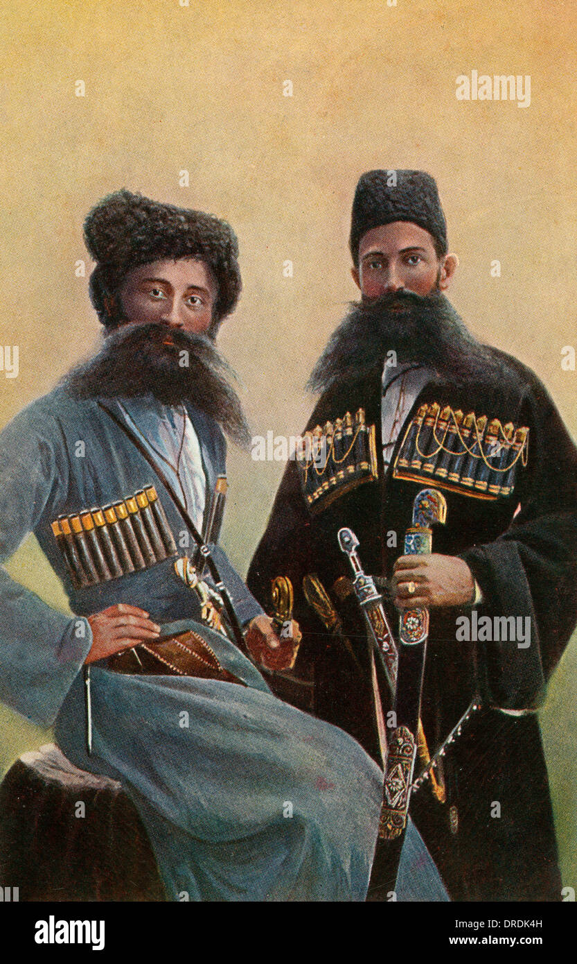 Ossetian soldiers - northern Georgian - Stock Image