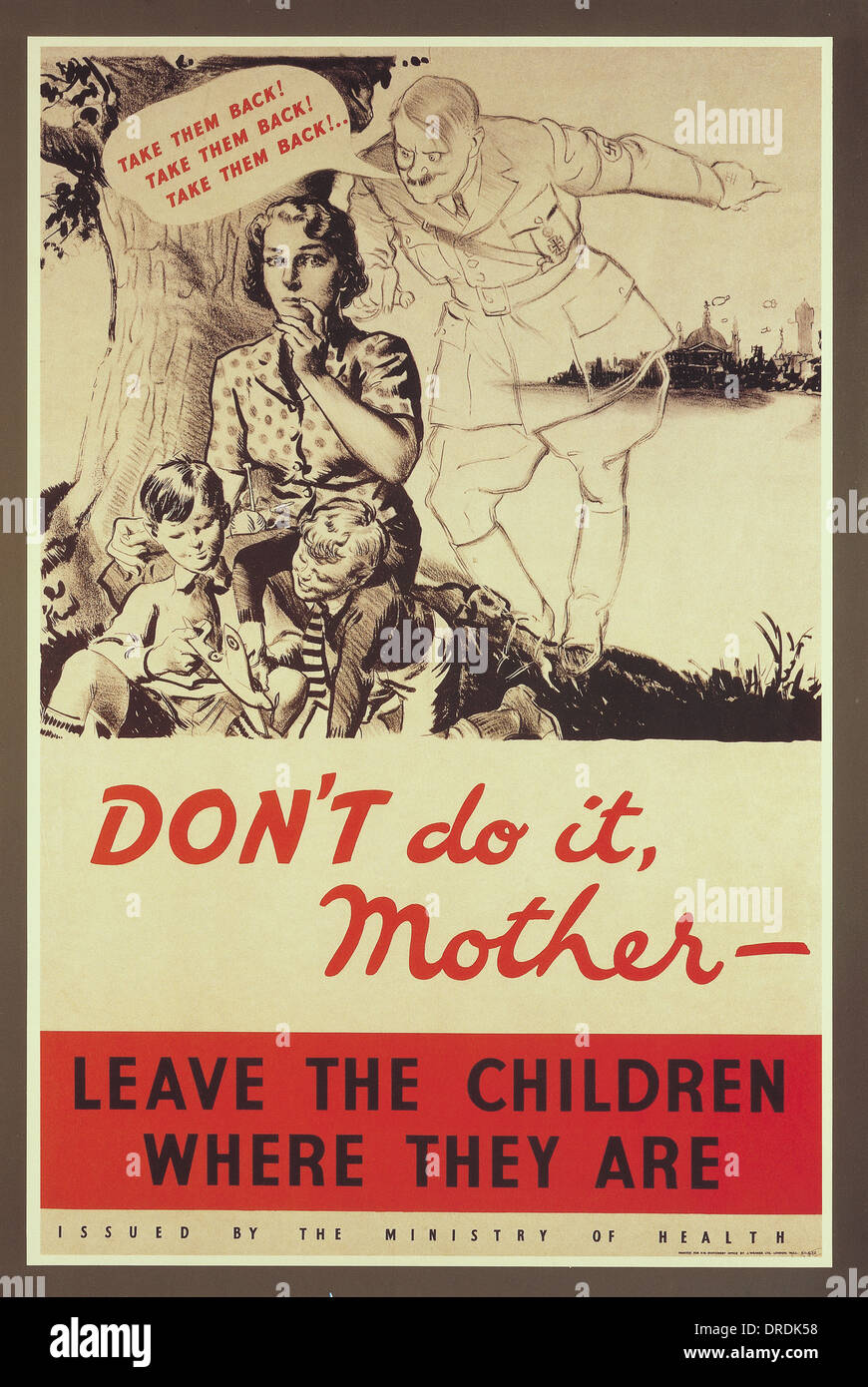Don't do it, mother.. - Stock Image