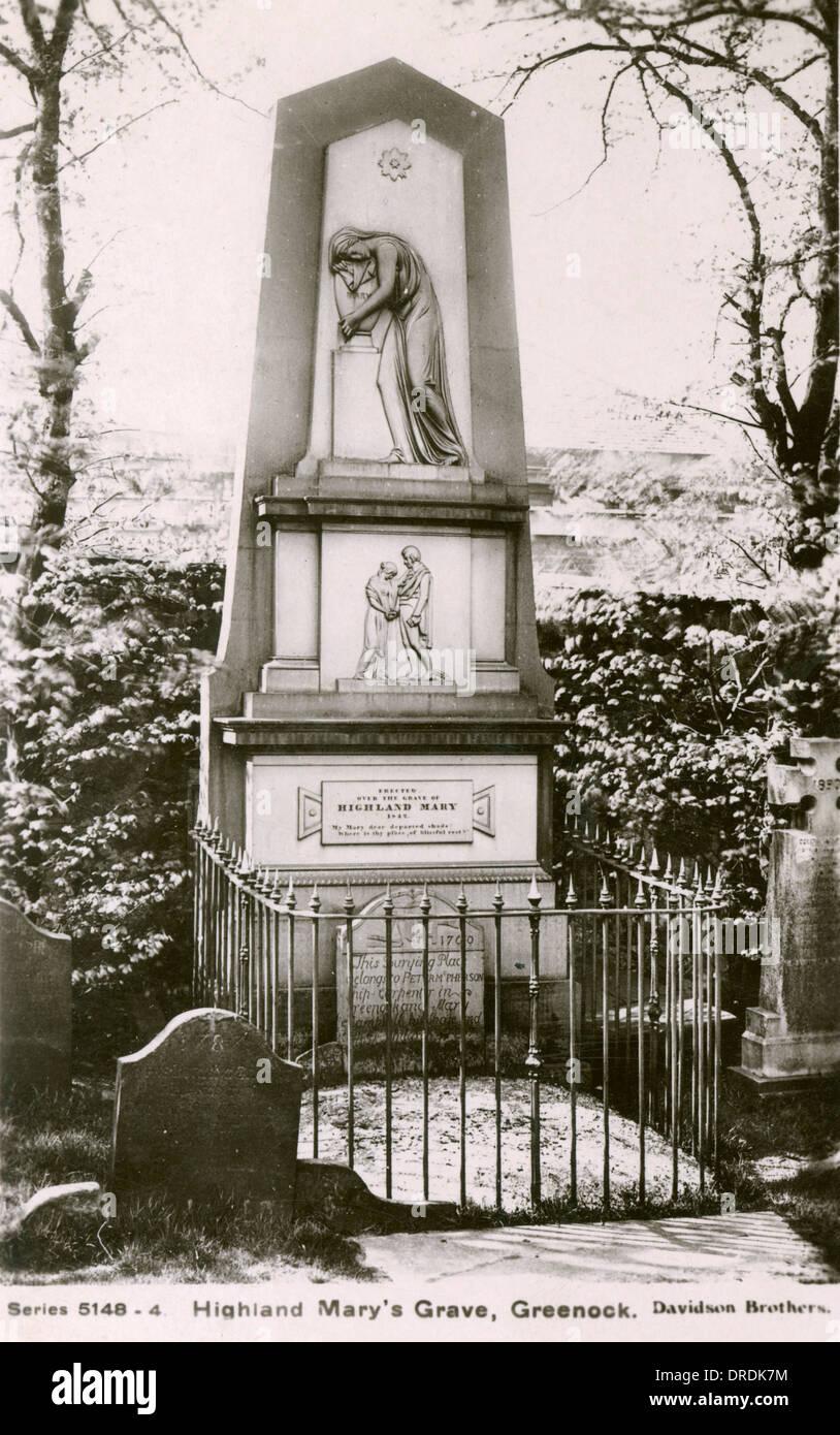 Highland Mary's Grave, Greenock - Stock Image
