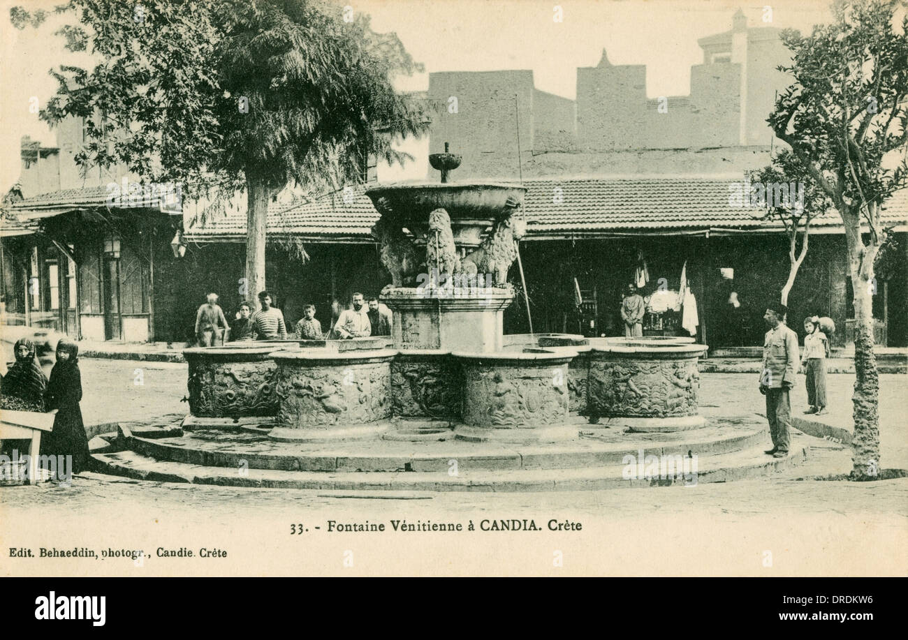 Greece, Crete - Chania - Venetian Fountain - Stock Image