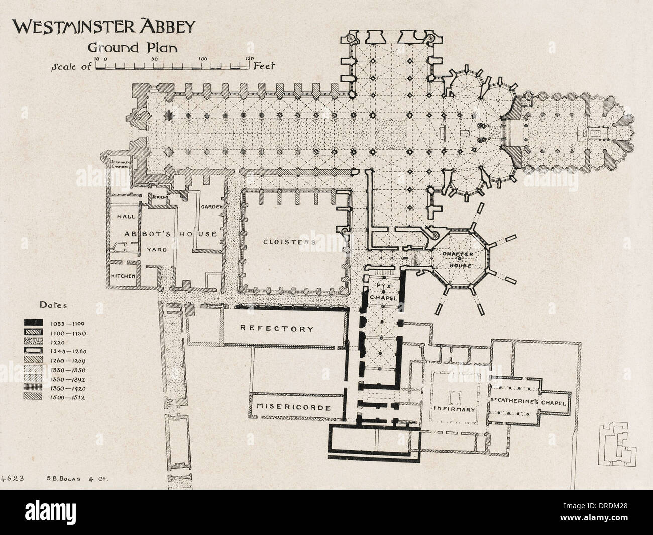 Ground Plan Of Westminster Abbey Stock Photo 66069312 Alamy
