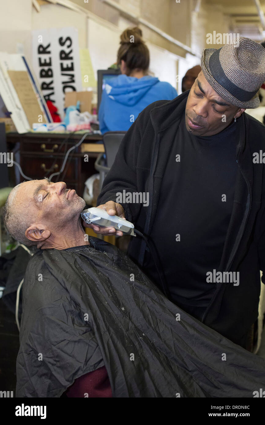 Detroit Michigan Barber Elvis Tucker Gives A Haircut And Shave To