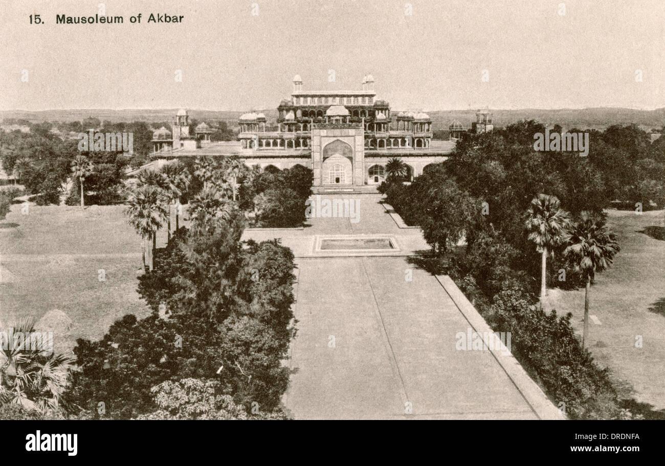 India - Mausoleum of Akbar, Agra - Stock Image