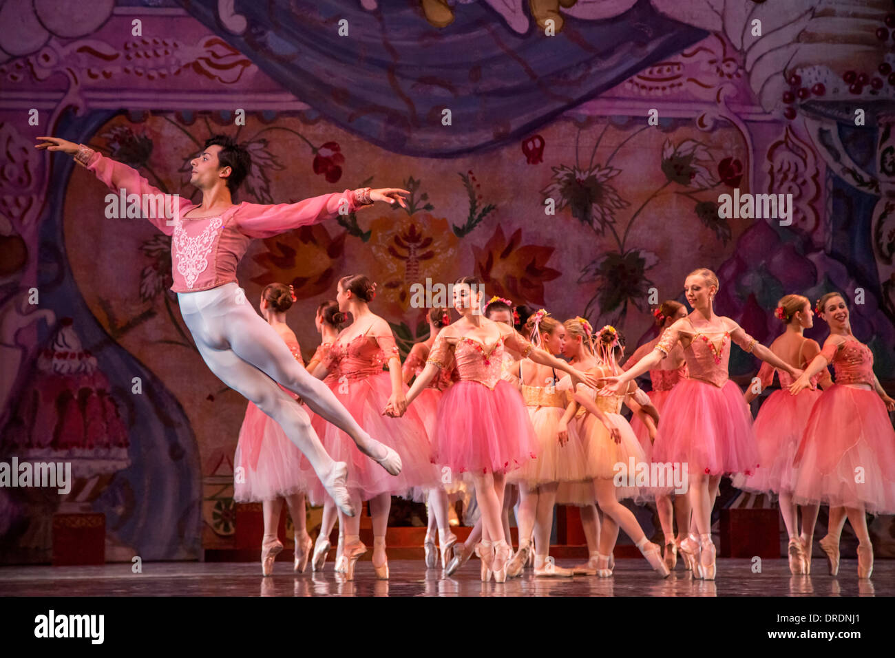 The Nutcracker, Act II, Waltz of the Flowers - Stock Image
