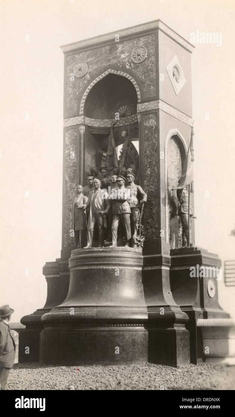 Istanbul, Turkey - The Turkish Republic Monument Stock Photo