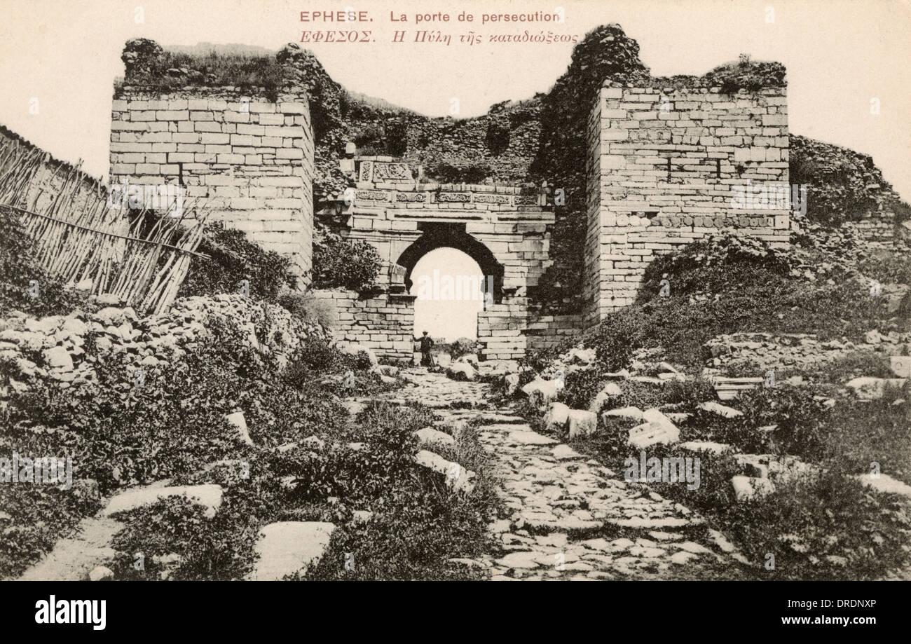 The Gate of Persecution - Ephesus, Turkey - Stock Image