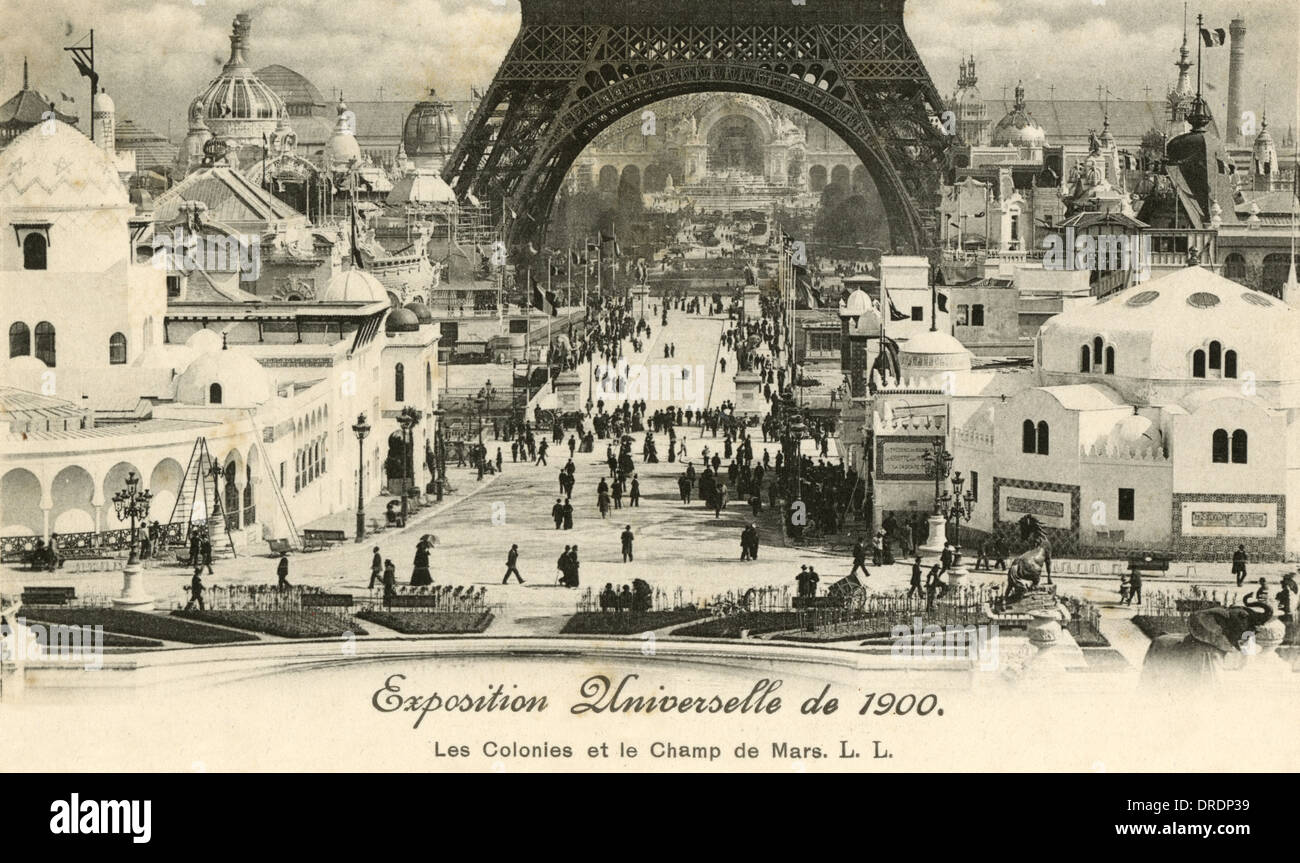 French Exhibition of 1900 - Stock Image