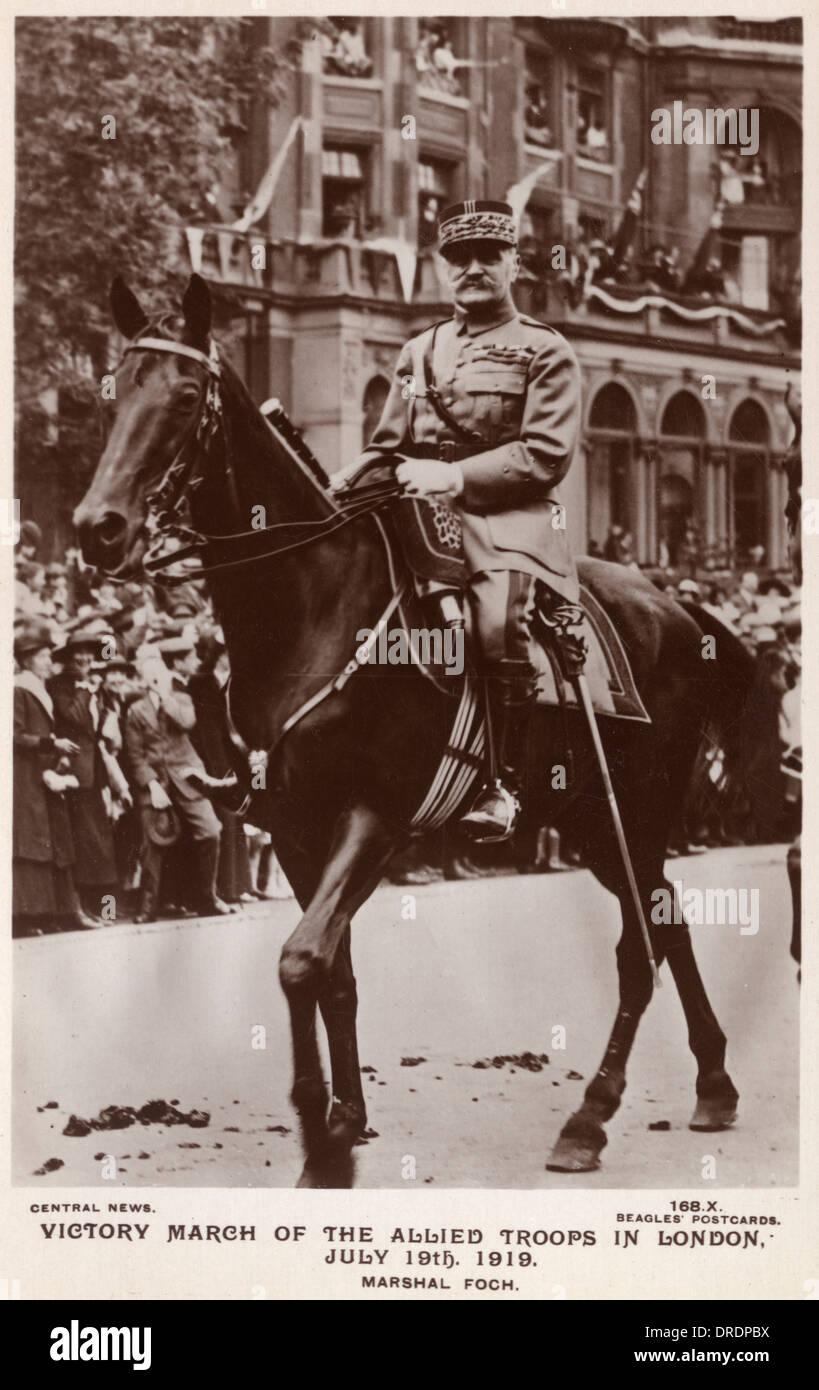 Marshall Foch - 1919 Victory Parade - Stock Image