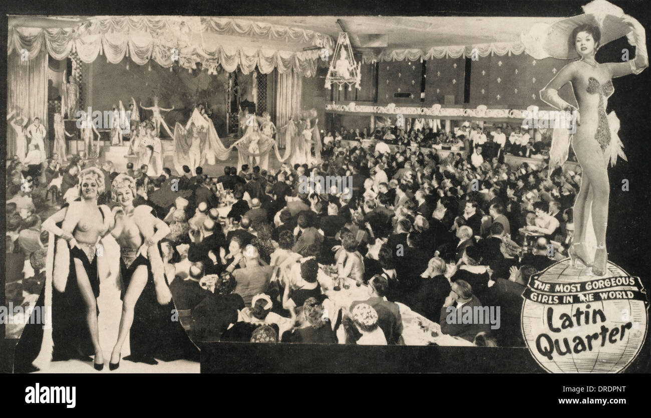 Latin Quarter Cabaret Bar - Stock Image