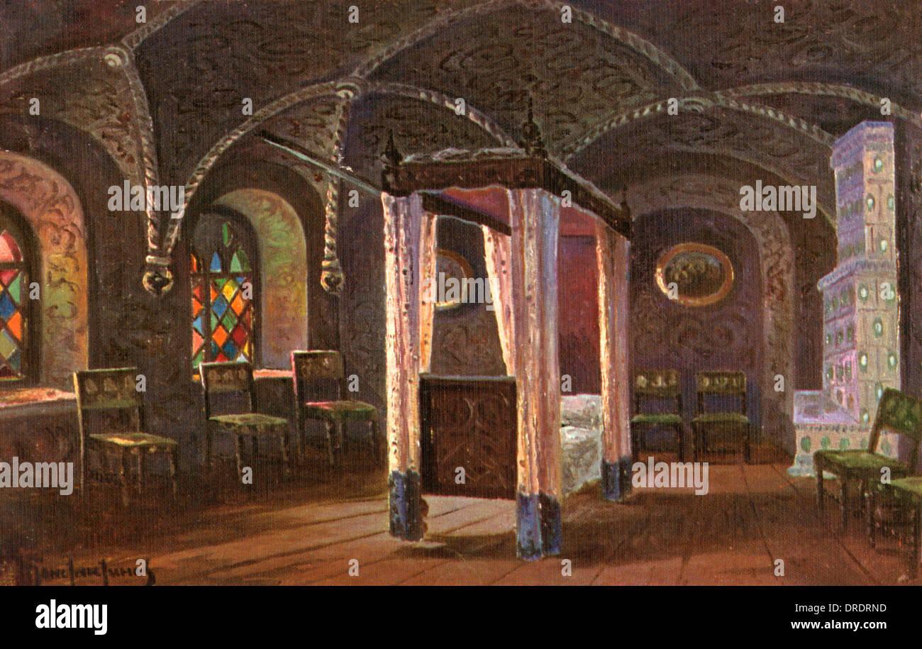 Tsar's Bedchamber, Terem Palace, Moscow, Russia Stock Photo