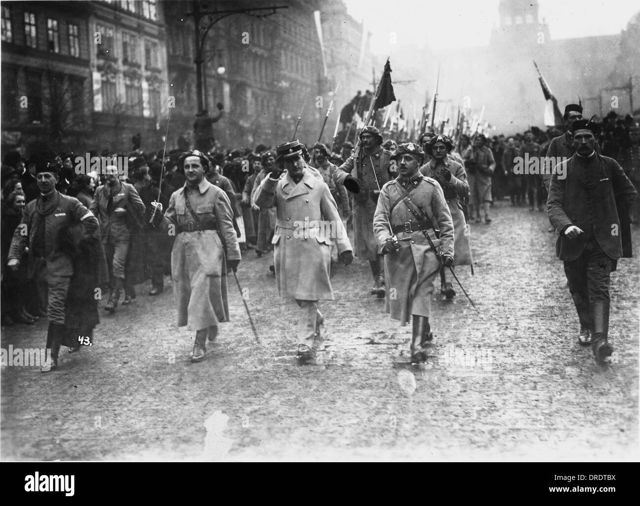 Czechoslovak legion returns to Prague 1918 - Stock Image