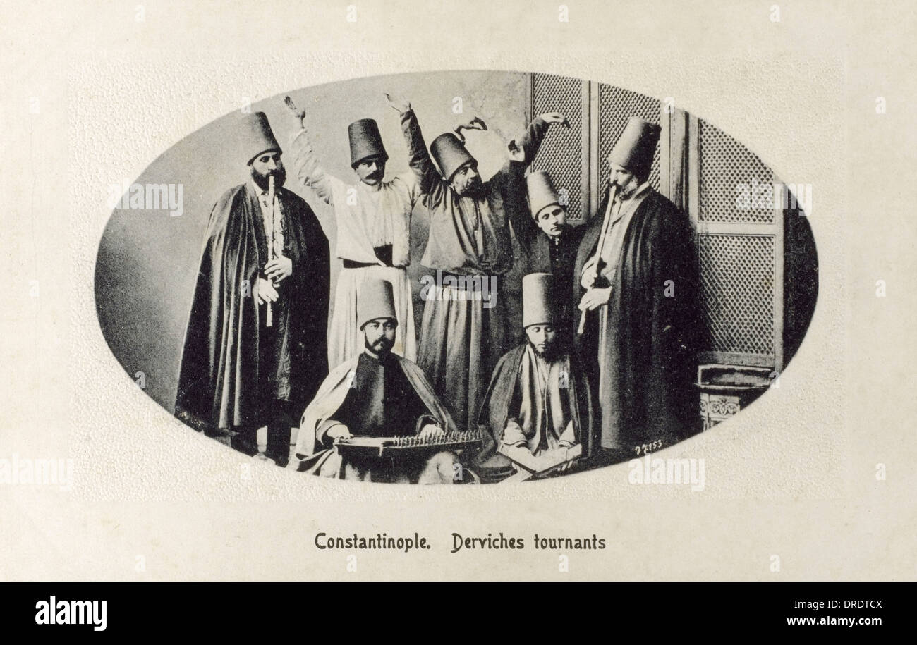 Whirling Derviches - Constantinople - Stock Image