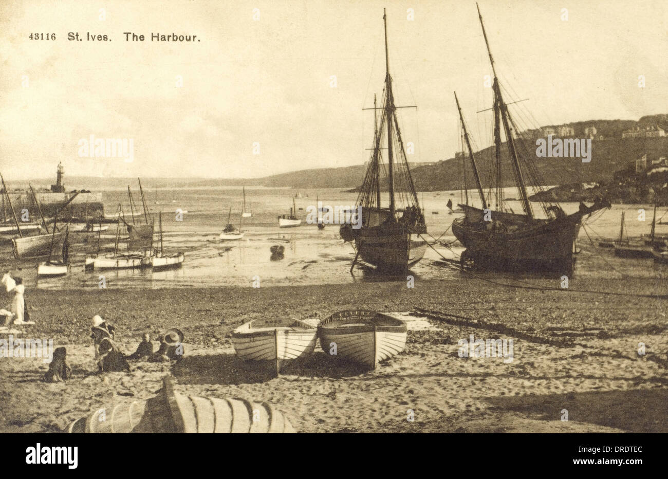 The harbour - St Ives - Stock Image