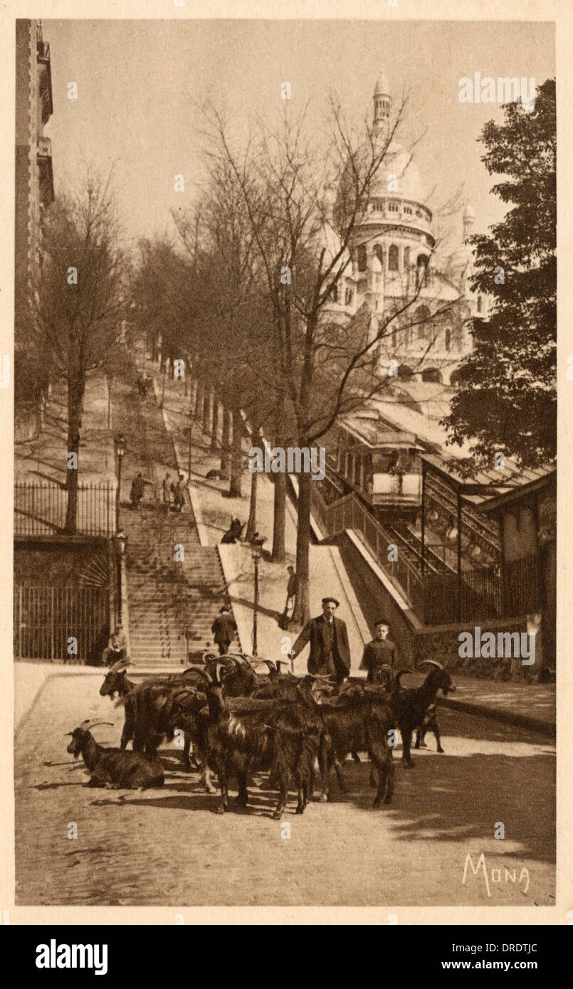 Montmartre - Sacre Coeur - base of the Funicular - Stock Image