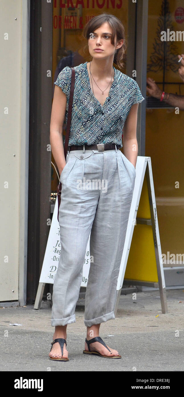 Keira Knightley on the movie set of 'Can A Song Save Your Life' New York City, USA - 23.07.12 - Stock Image